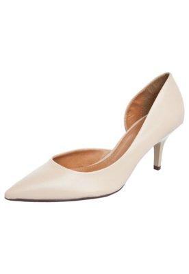 Sapato Scarpin FiveBlu Cravos Bege