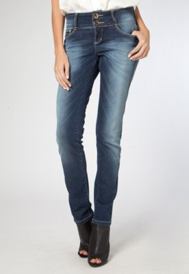 Calça Jeans Cigarrete Rise Azul - Osmoze