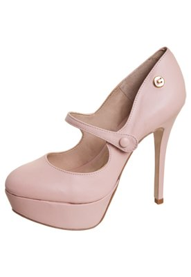 Sapato Scarpin Carmim Boneca Meia-Pata Rosa