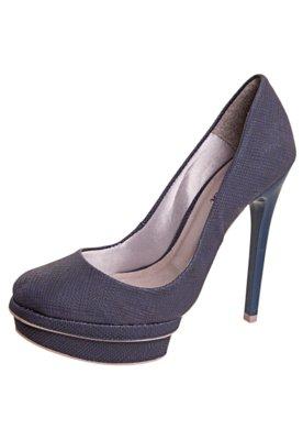 Sapato Scarpin Pop Touch Meia-Pata Azul