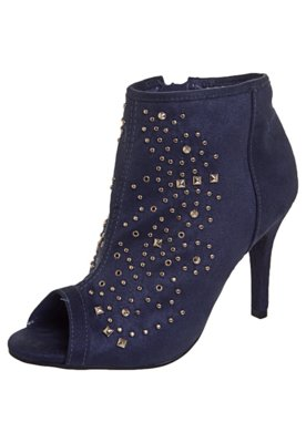 Ankle Boot Tachas Azul - Via Marte