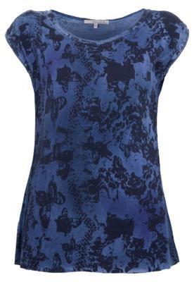 Blusa Shoulder Butterfly Azul