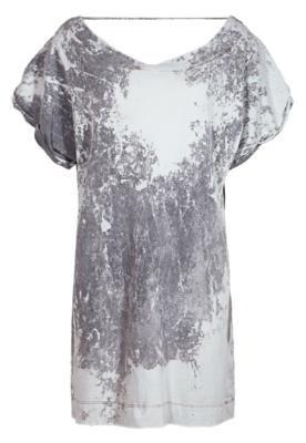 Vestido Espaço Fashion T Shirt Cinza