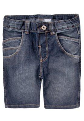 Bermuda Jeans Meu 1º Jeans Boy Azul