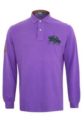 Camisa Polo Ralph Lauren Number Roxa