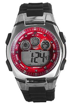 Relógio Cosmos OS41299V Vermelho, Prata e Grafite