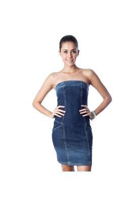 Vestido Recortes Azul - Cantão