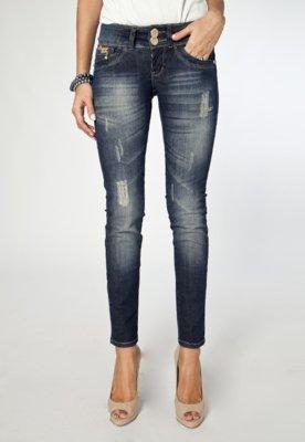 Calça Jeans Osmoze Skinny Shine Azul