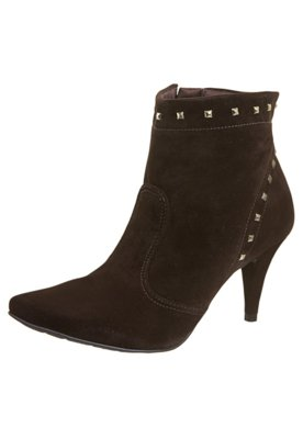 Ankle Boot SPikes Pirâmides Marrom - Crysalis