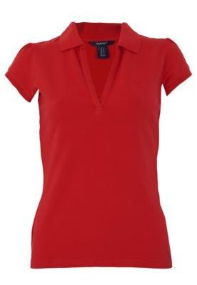 Camisa Polo Gant Clean Vermelha
