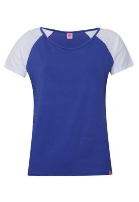 Blusa Pink Connection Recorte Azul