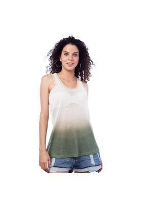 Blusa Degradê Verde e Bege - Espaço Fashion