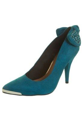 Sapato Scarpin Crysalis Laço Traseiro Azul