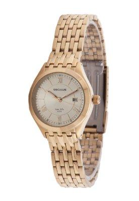 Relógio Seculus 23333LPSTDA1 CHAMPAGNE Dourado