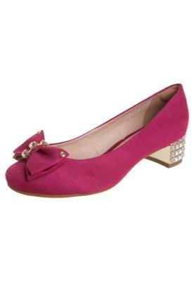 Sapato Scarpin Anna Flynn Laço Rosa