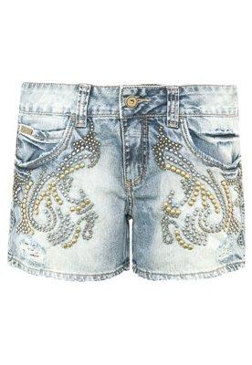 Bermuda Jeans Colcci Daria Tachas Azul