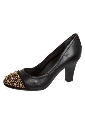 Sapato Scarpin Biqueira SPikes Preto - Bottero