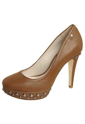 Sapato Scarpin Meia-pata Tachas Marrom - Capodarte