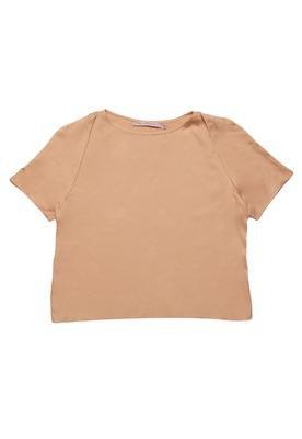 Blusa Basic Bege - Espaço Fashion