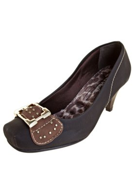 Sapato Scarpin Fivela Marrom - Crysalis