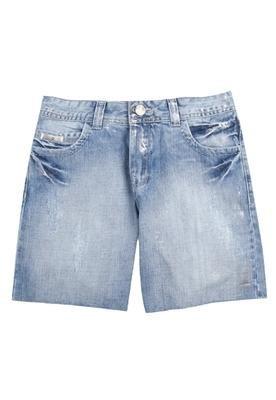 Bermuda Jeans Foil Azul - Cantão