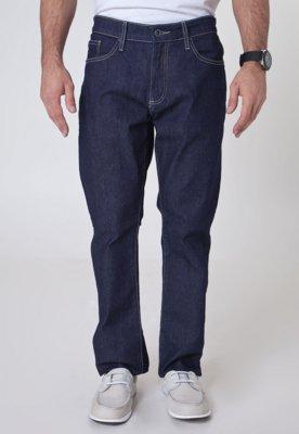 Calça Jeans Lacoste Reta Straight Fit Hemeh Azul