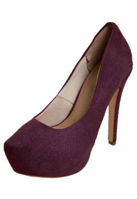 Sapato Scarpin FiveBlu Liso Vinho