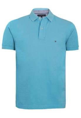 Camisa Polo Tommy Hilfiger Broderie Azul