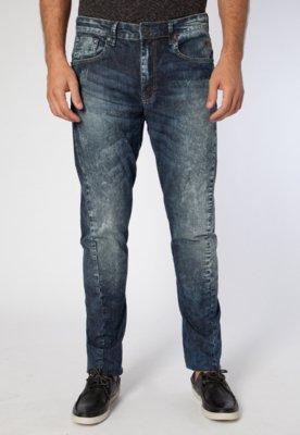 Calça Jeans Cavalera Reta Twist Azul
