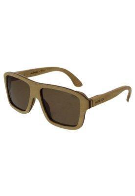 Óculos Solar Madeira Notiluca Mindú Bege