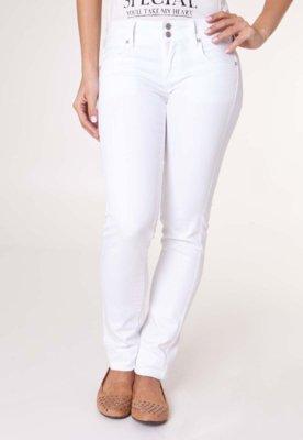 Calça Jeans Slim Fit MNG Barcelona Lizzy Branca