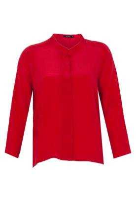 Blusa Seda Letage Francesca Vermelha