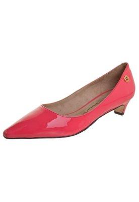 Sapato Scarpin Carmim Salto Baixo Rebeca Rosa