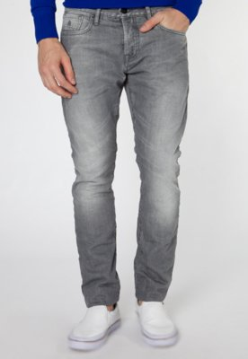 Calça Jeans Scotch & Soda Skinny Flatiron Cinza