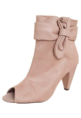 Ankle Boot Moleca Laço Lateral Nude