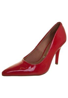 Sapato Scarpin Vizzano Bico Fino Salto Alto Vermelho