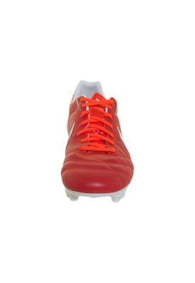 Chuteira Campo Nike Tiempo Mystic IV FG Vermelha/Branca