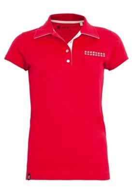 Camisa Polo Anna Flynn Bolso Vermelha