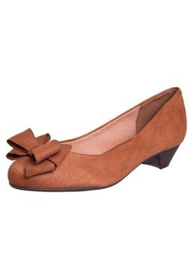 Sapato Scarpin Vizzano Salto Baixo Laço Caramelo