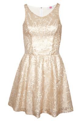 Vestido Pink Connection Glamour Dourado