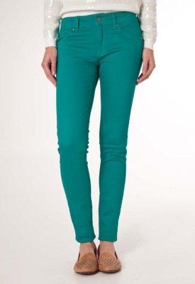 Calça Jeans MNG Barcelona Slim Fit Paty Verde
