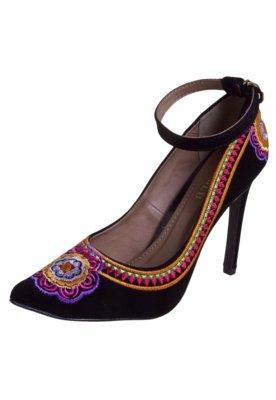 Sapato Scarpin FiveBlu Platino Preto