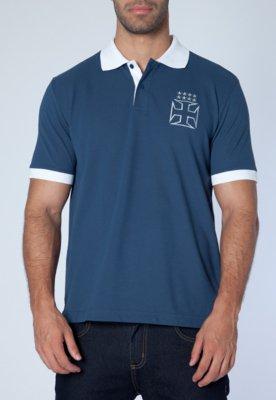 Camisa Polo Penalty Vasco Cruz de Cristo Azul