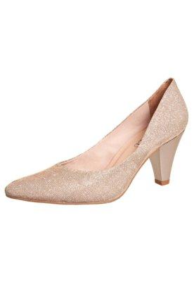 Sapato Scarpin FiveBlu Shine Bege