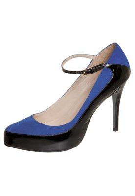 Sapato Scarpin Bicolor Azul - Cavage