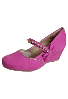 Sapato Scarpin Dakota Anabela Mary Jane Laço Rosa