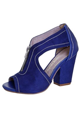 Ankle Boot Luxo Azul - Zatz