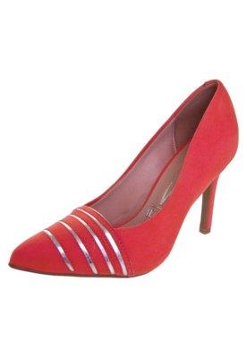Sapato Scarpin Vizzano Bicolor Salto Alto Vermelho