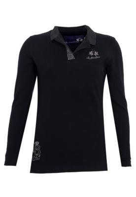 Camisa Polo La Martina SParkle Preto