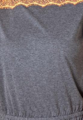 Vestido FiveBlu Renda Modern Cinza